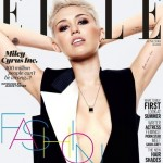 Miley Cyrus braless and rocking Lanvin for Elle UK June