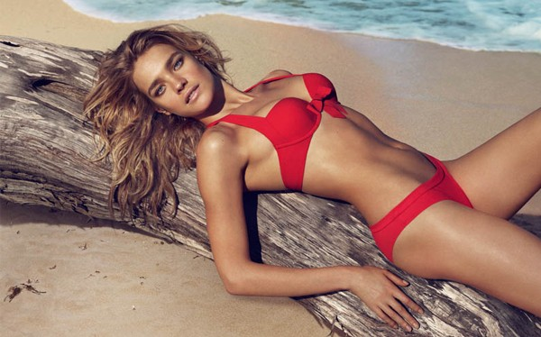 Natalia Vodianova is beach babe perfection for Etam SS13 ads