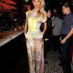 Poppy Delevingne dazzles in Mary Katrantzou jumpsuit