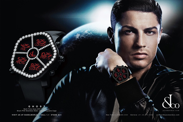 Cristiano Ronaldo is the new face of Jacob & Co watches