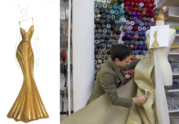 Zac Posen creates $1 Million gold dress for Magnum