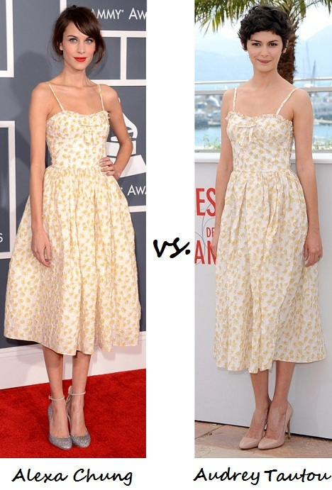Alexa Chung vs. Audrey Tautou: Who wore Valentino Red better?