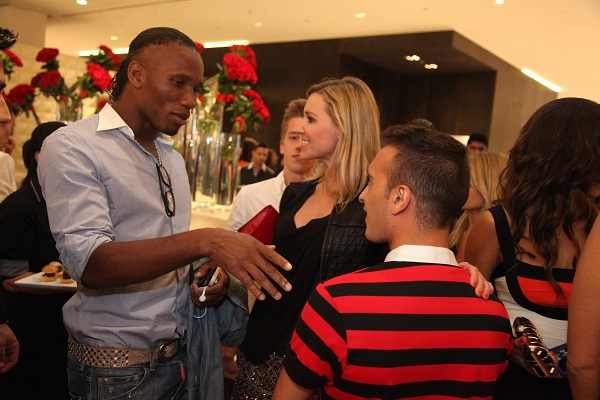 Didier Drogba at VOGUE Cafe launch party