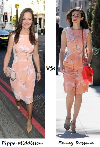 Pippa Middleton vs. Emmy Rossum: Who wore Tabitha Webb better?
