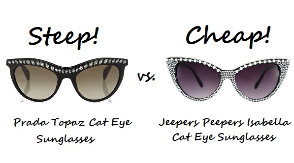 Steep v cheap cat eye sunnies