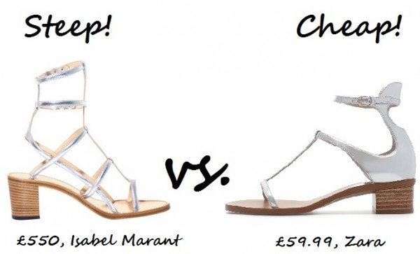 Steep vs. Cheap: Strappy metallic sandal