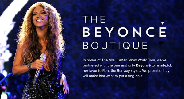 Beyonce Boutique at Rent the Runway!