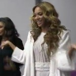 Beyonce warms up for Mrs Carter opening night…