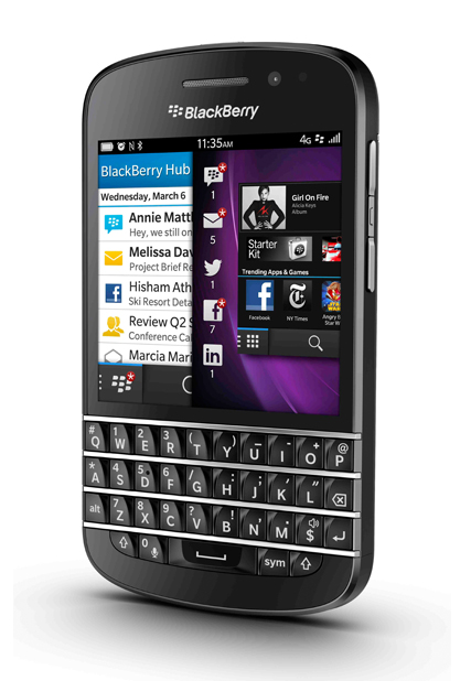 New Blackberry Q10 unveiled at Selfridges