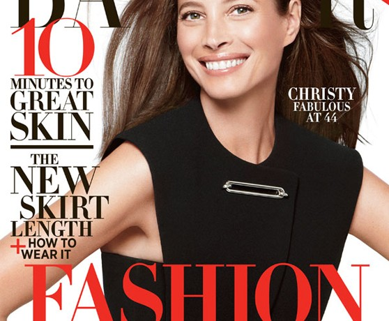 Christy Turlington is all smiles for Harper's Bazaar US June