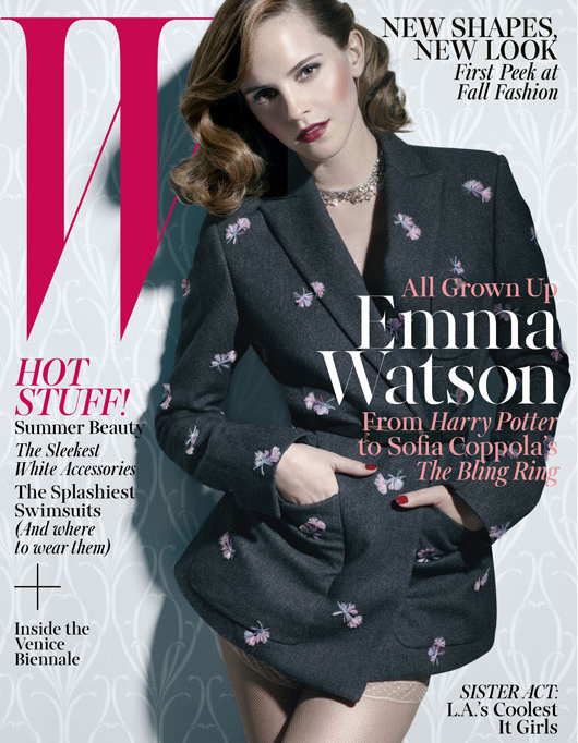 Emma Watson wows in Louis Vuitton for W June issue