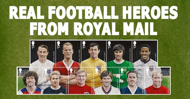 Treat him to… football heroes stamps!