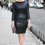 Gemma Arteton does tight leather right in London
