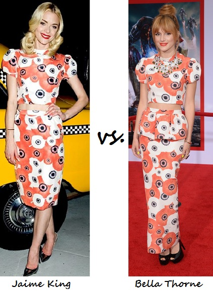 Jaime King vs. Bella Thorne: Who Wore Katie Ermilio Better?