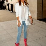 Jennifer Lopez is a bit of all white at BBC Studios in London