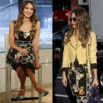 Jessica Alba's burst of print and colour in Dolce and Gabbana