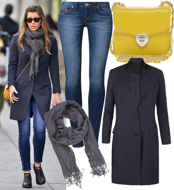 Get Jessica Biel's wrapped up All Saints look