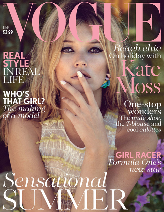 Kate Moss fronts British Vogue June as Cara Delevingne covers Miss Vogue's debut issue