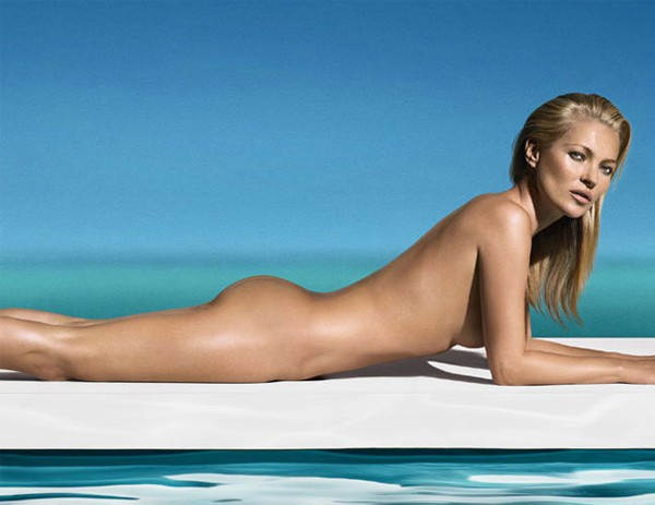 "Kate Moss is ""wearing the ultimate tan"" as first face and body of St. Tropez"