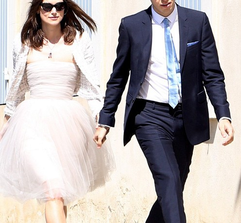 Keira Knightley gets married in Chanel (and possibly recycled Rodarte)