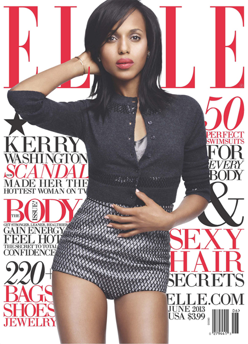 Kerry Washington shows off her hot bod in Marc Jacobs for Elle US