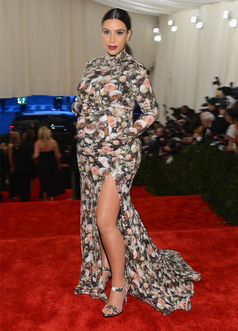 """She was the most beautiful pregnant woman I dressed in my career"" – Riccardo Tisci on Kim Kardashian at the Met Gala"