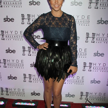 Kourtney Kardashian's peacock pretty in Vegas