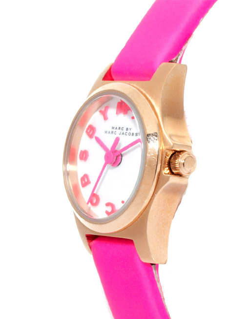 We love the Marc by Marc Jacobs Dinky Henry watch