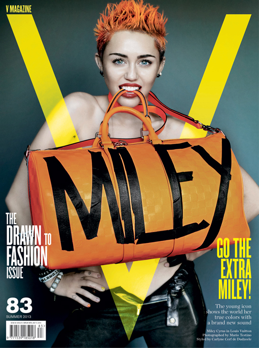 Miley Cyrus goes punk for V's summer issue