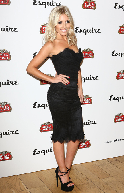 Mollie King is beautiful in black for Esquire party