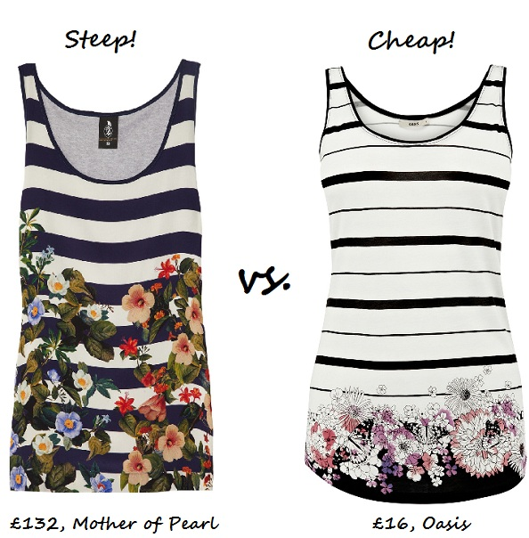 Steep vs. Cheap: Floral 'n' Stripe Vest