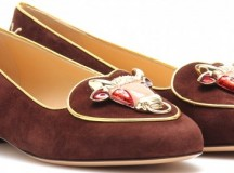 Charlotte Olympia Taurus suede slipper-style loafers: Yay or Nay?