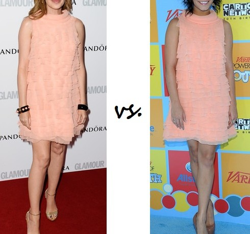 Kylie Minogue vs. Vanessa Hudgens: Who wore Moschino better?