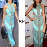 Nicole Scherzinger vs. Louise Roe: Who wore Mara Hoffman better?