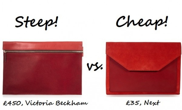 Steep vs. Cheap: Red leather clutch