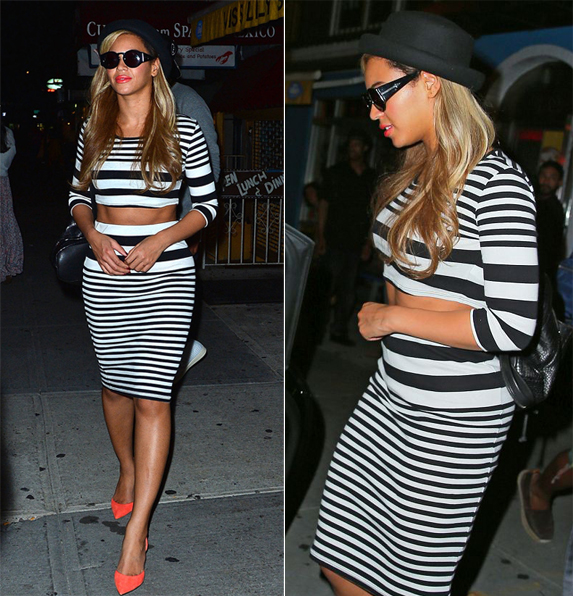 Beyoncé rocks Kurt Geiger back candy like a pro!