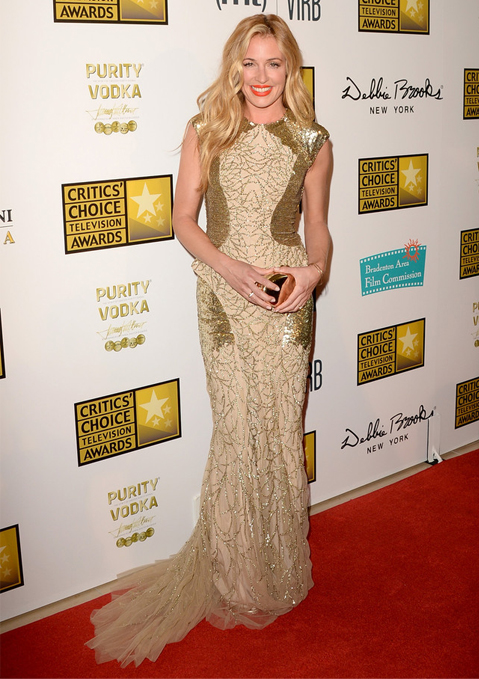 Cat Deeley glitters in Monique Lhuillier for Critics' Choice TV Awards