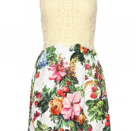 Buy of the Week: Dolce and Gabbana Jacquard Dress with Lace Overlay