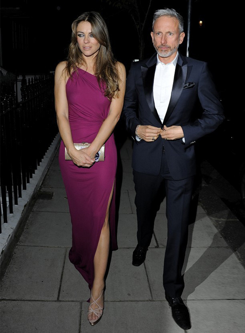 Elizabeth Hurley rocks Emilio Pucci for White Tie and Tiara Ball