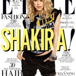 Shakira in Versace and DVF for sexy Elle US July cover