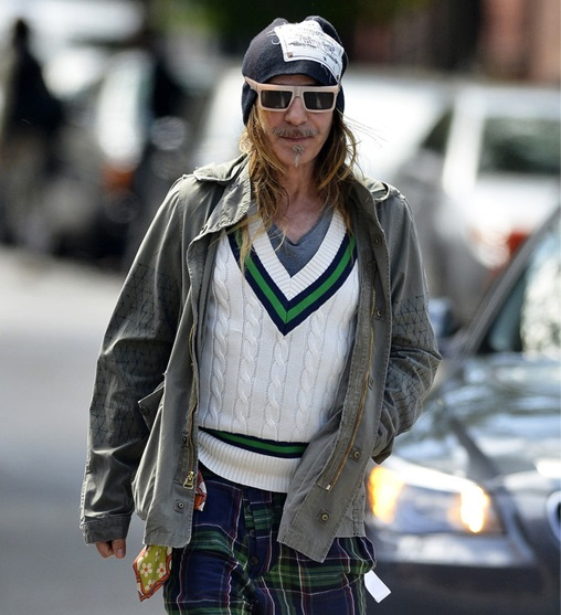 John Galliano filming Charlie Rose interview tomorrow