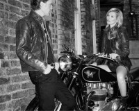 Kate Moss goes tough biker chick for Matchless