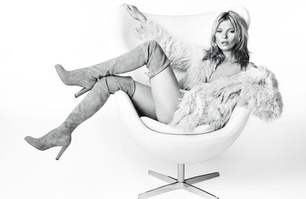 Kate Moss struts her stuff for Stuart Weitzman AW13 ad