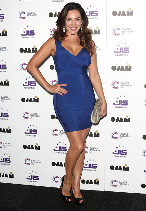 kelly-brook-ojam-bandage-dress