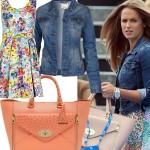 Get Kim Sears' floral Mulberry look