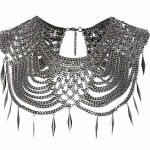 Lunchtime Buy: River Island silver tone metal spike chain cape necklace