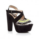 Lunchtime Buy: New Look Limited black and neon green embellished platform sandals