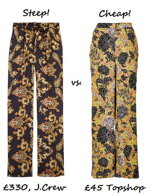 Steep vs. Cheap: Printed wide-leg trousers