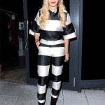 Rita Ora's Beetlejuice/prisoner inspired Stella McCartney look