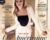Scarlett Johansson fierce in monochrome for debut Vanity Fair France issue